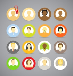 account icons vector image