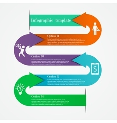 Arrows infographic template vector image
