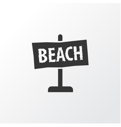 Beach sign icon symbol premium quality isolated vector