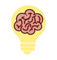 Brain storm human organ icon vector