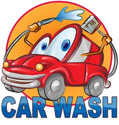 Car wash symbol cartoon vector