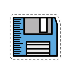 cartoon floppy disk storage information vector image