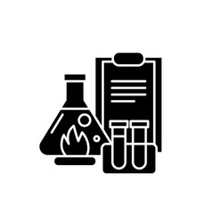 chemical experiments black icon sign on vector image