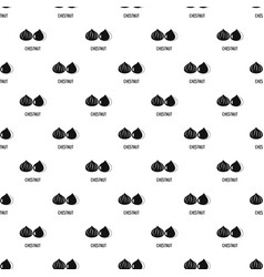 chestnut pattern seamless vector image