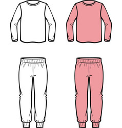 Childs jumper and joggers vector
