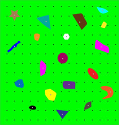 Climbing wall pattern vector image