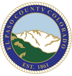 Coat arms el paso county in colorado united vector