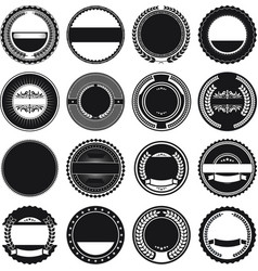 collection of round border frames vector image