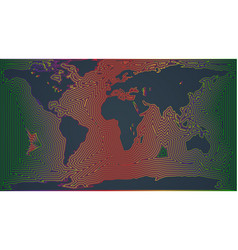 colorful map of the world vector image