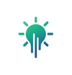 creative bulb logo vector image