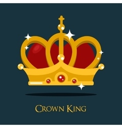 Crown of king or queen princess icon vector image vector image