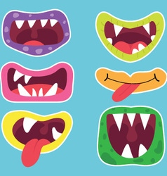 Cute Monster Mouth vector