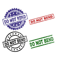 Damaged textured do not bend seal stamps vector