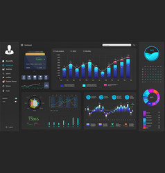 Dark dashboard interface for site vector