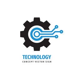 Digital tech - business logo template vector
