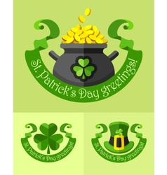 Emblems for saint patricks day vector image