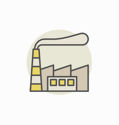 factory building colorful icon vector image