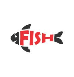 Fish lovers logo design vector