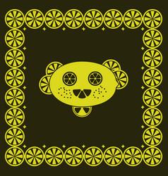Funny lemon character vector