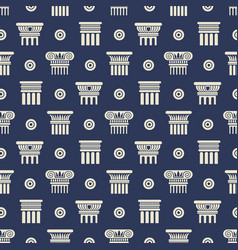 Greek and roman ancient columns seamless pattern vector