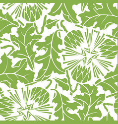 Greenery dandelion seamless pattern background vector