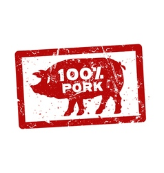 Grunge red rubber stamp with the text 100 percent vector image