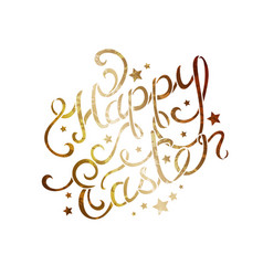 Hand lettering easter greetings vector