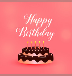 Happy birthday celebration cake with candles vector