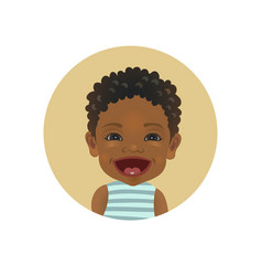 happy facial expression afro american child vector image