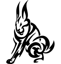 hare in tribal style vector image