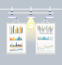 infographic and inforcharts business charts set vector image