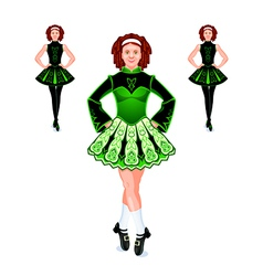 Irish dancers trio vector