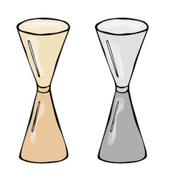 jigger cocktail measuring cup sketch hand drawn vector image