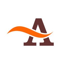 letter a concept logo icon design vector image