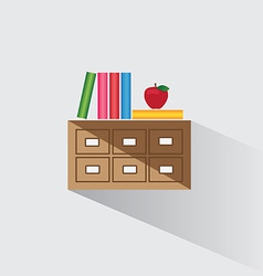 Library catalog of books vector