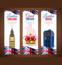 London vertical banners collection vector