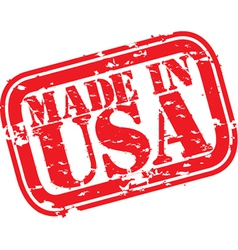 Made in the USA stamp vector