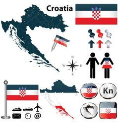 Map of Croatia vector