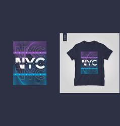 new york city t-shirt geometric design vector image