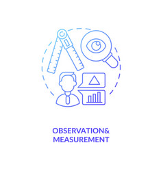 Observations and measurements concept icon vector