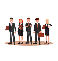 Office staff flat design vector