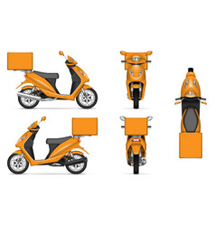 orange motorbike vector image