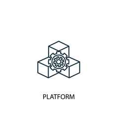platform concept line icon simple element vector image