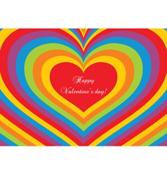 Psychedelic heart Valentines day postcard vector image