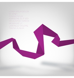 Purple paper curve vector image