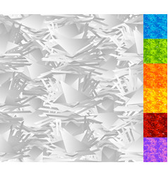 Random pattern chaotic rough texture set of 7 vector