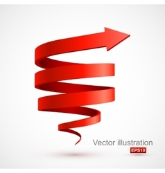 Red spiral arrow 3D vector image