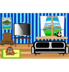 Room with situation inwardly vector image