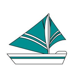 sailboat icon design vector image