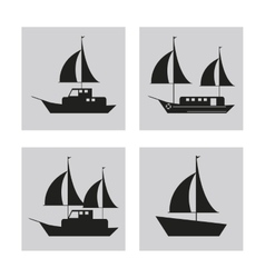 sailboat ship sea design vector image